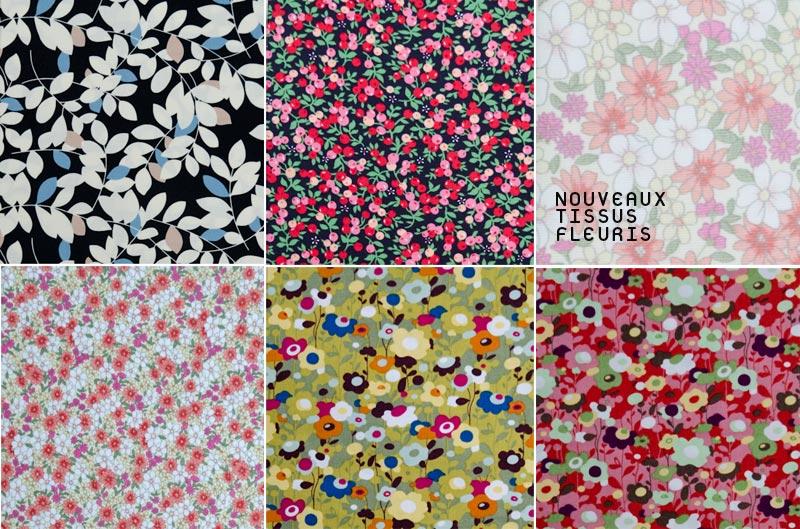 Tissu fleuri style liberty - Tissus fleuris anglais ...